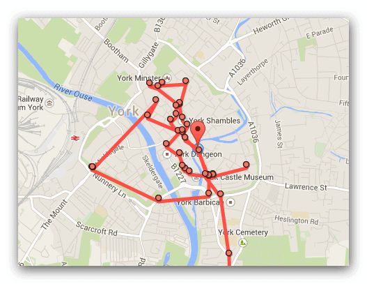Google location track