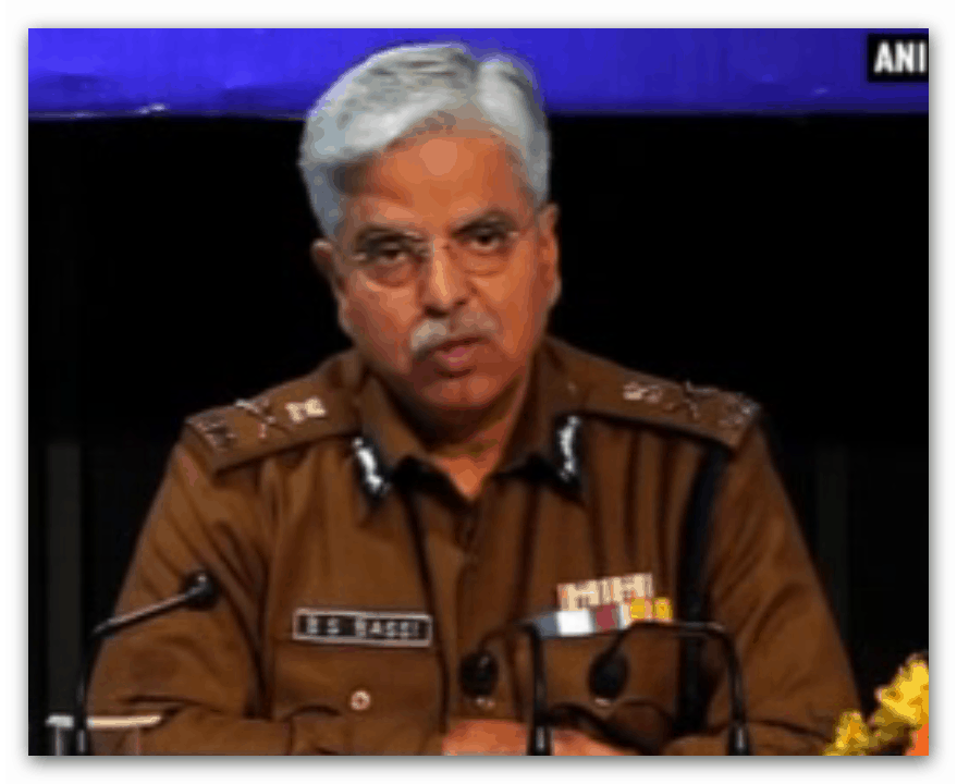 Dheli Police Chief BS Bassi